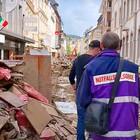 Verheerendes Hochwasser 2021: Die Notfallseeslorge unterstützt Menschen, hier unterwegs mit dem rheinischen Präses Thorsten Latzel in betroffenen Gebieten.